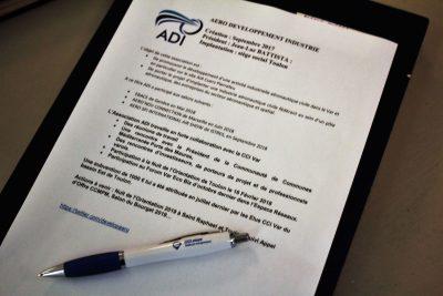 Les TOURNÉES PRÉSIDENT VAR de la CCI : la CCI du Var et l'Association ADI « Aéro Développement Industrie »