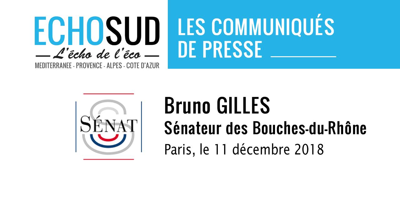 Communiqué de presse de Bruno Gilles, Sénateur des Bouches-du-Rhône