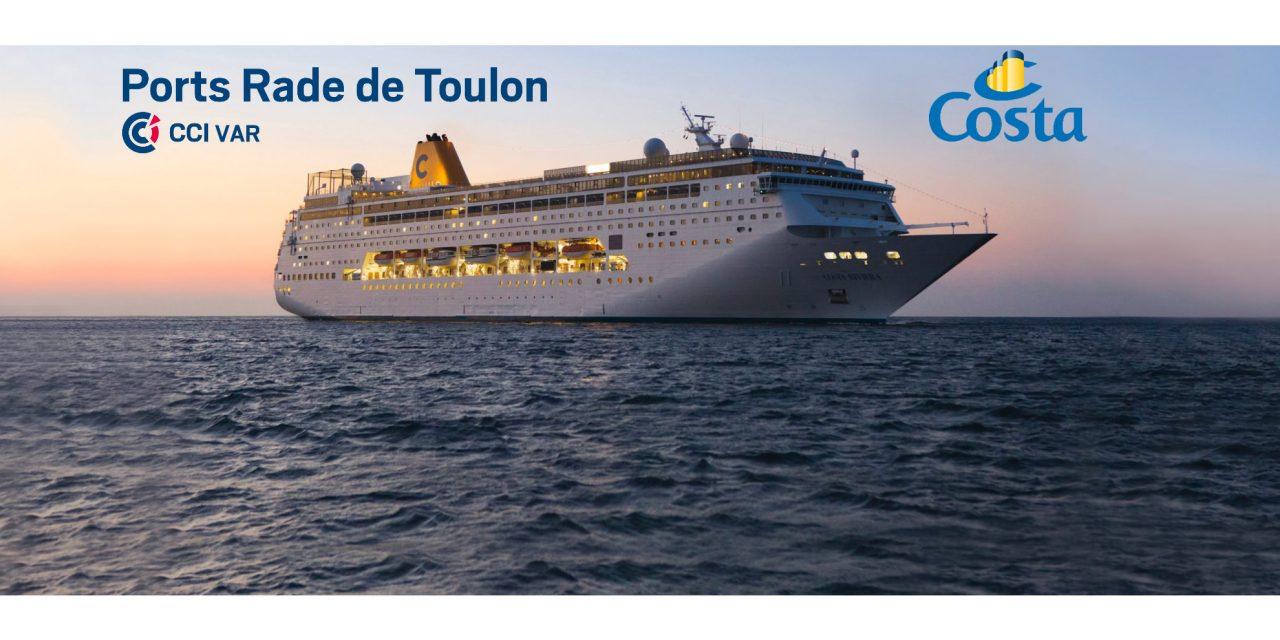 Toulon Croisières : Retour des têtes de ligne depuis le Port de Toulon avec la Compagnie Costa Croisières