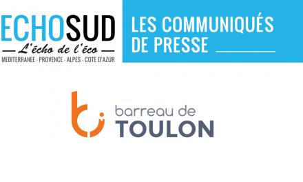 TOULON -COMMUNIQUE DE PRESSE de l'Ordre des Avocats au Barreau de TOULON