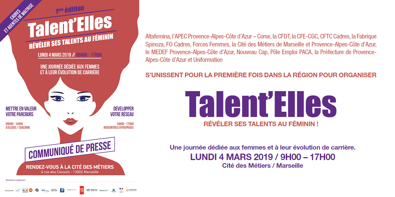 Marseille : 1ère édition de Talent'Elles le 4 mars 2019