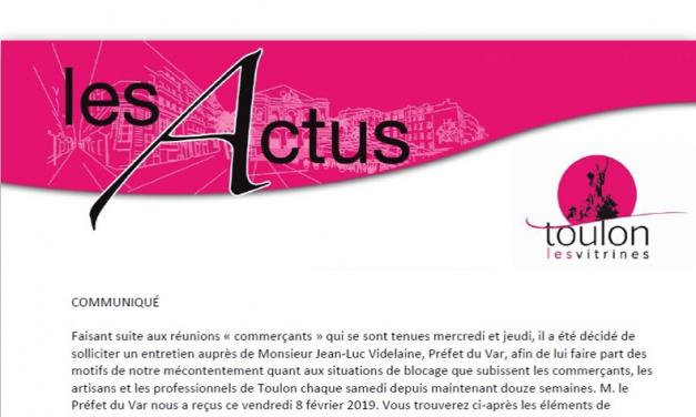 Gilets Jaunes : Les commerçants de Toulon se mobilisent aujourd'hui à 16h20