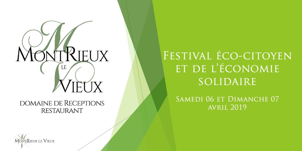 Soyez au RDV du 1er Festival Eco Citoyen et de l'Economie Solidaire de Montrieux
