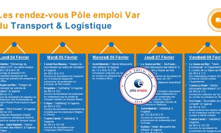 Les RDV Pôle emploi Var Transport et logistique