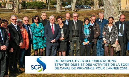 AIX EN PROVENCE : Rétrospective des orientations stratégiques et des activités de la Société du Canal de Provence pour l'année 2018