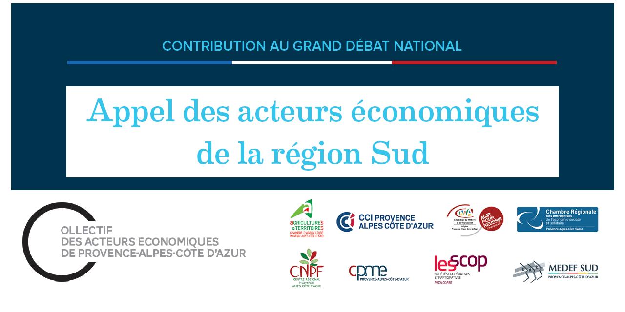 Appel du Collectif des acteurs économiques de Provence-Alpes-Côte d'Azur | Grand débat national