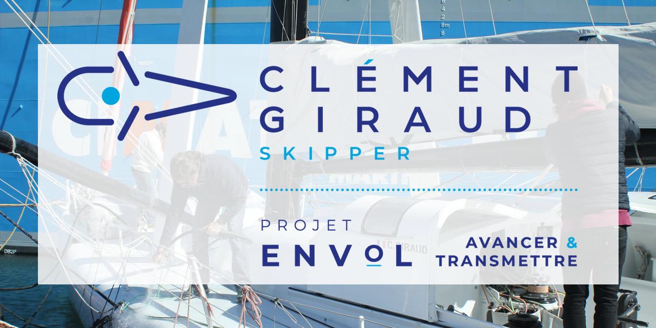 VAR : Arrivée du bateau le projet Envol porté par le skipper Clément Giraud en rade de Toulon