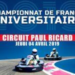 Le 4 avril au Circuit Paul Ricard, vivez le 12ème Championnat de France Universitaire KARTING 2019
