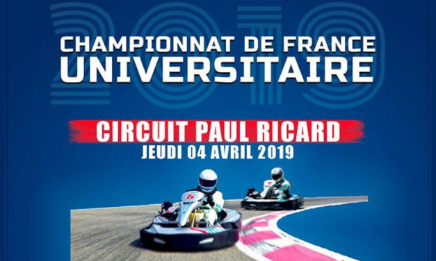 Le 4 avril au Circuit Paul Ricard, vivez le 12ème Championnat de France Universitaire KARTING 2019