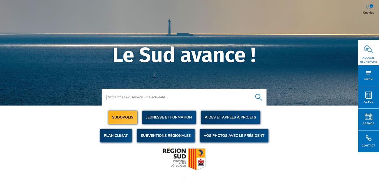 La Région Sud lance son nouveau site internet