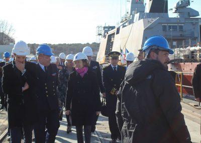 Visite de Mme la Ministre des Armées Florence PARLY - Base navale de Toulon