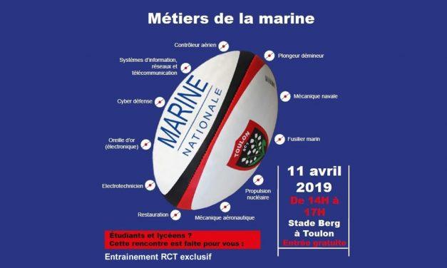 La Marine invite les étudiants à un entraînement dédié du Rugby Club Toulonnais