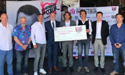 Les 25 000 repas de la FNAIM Var au profit de l'association « Les restaurants du Cœur du Var »