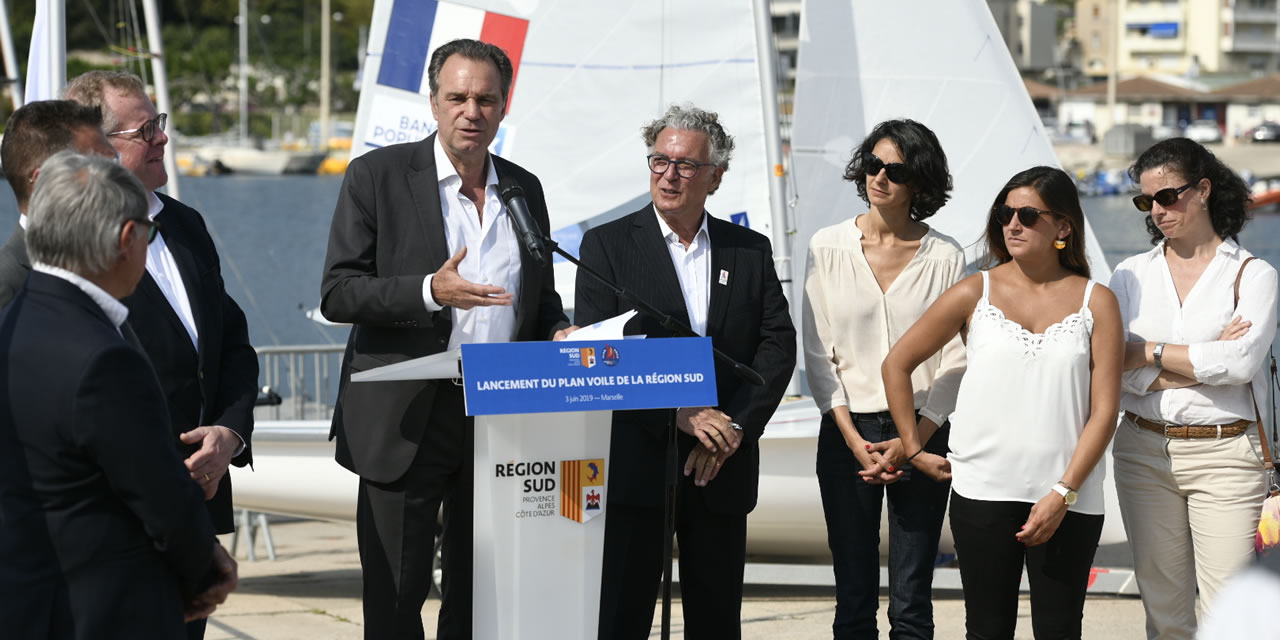 Lancement du Plan Voile et Nautisme de la Région Provence-Alpes-Côte d'Azur