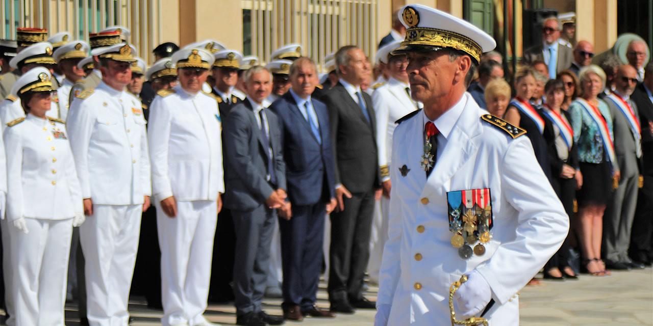 TOULON : L'amiral Laurent Isnard, nouveau préfet maritime de la Méditerranée