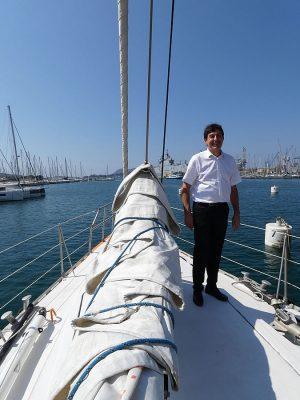 Olivier Cavallo à bord de Tara