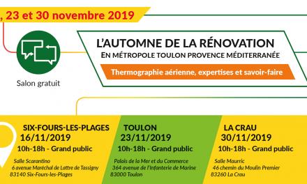 Les rendez-vous de la Rénovation Energétique – salon gratuit les 16, 23 et 30 novembre avec la Métropole TPM