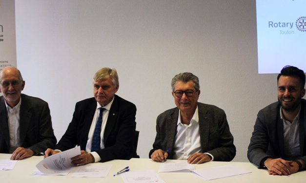 TOULON : SIGNATURE D'UNE CONVENTION TRIPARTITE ROTARY INTERNATIONAL, TVT INNOVATION et RESEAU ENTREPRENDRE VAR