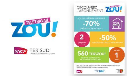 Pour la rentrée de ses usagers, la Région Sud lance le PASS ZOU ! Télétravail