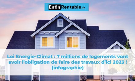 Loi Energie-Climat : 7 millions de logements vont avoir l'obligation de faire des travaux d'ici 2023 ! (infographie)