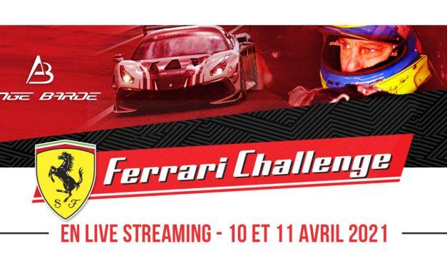 Suivez le pilote Ange Barde sur le Ferrari Challenge en Live les 10 et 11 avril