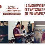 LA CHAMBRE DE METIERS ET DE L'ARTISANAT REGIONALE DÉVOILE LES CHIFFRES DE L'ARTISANAT EN PROVENCE ALPES COTE D'AZUR  AU 1ER JANVIER 2021