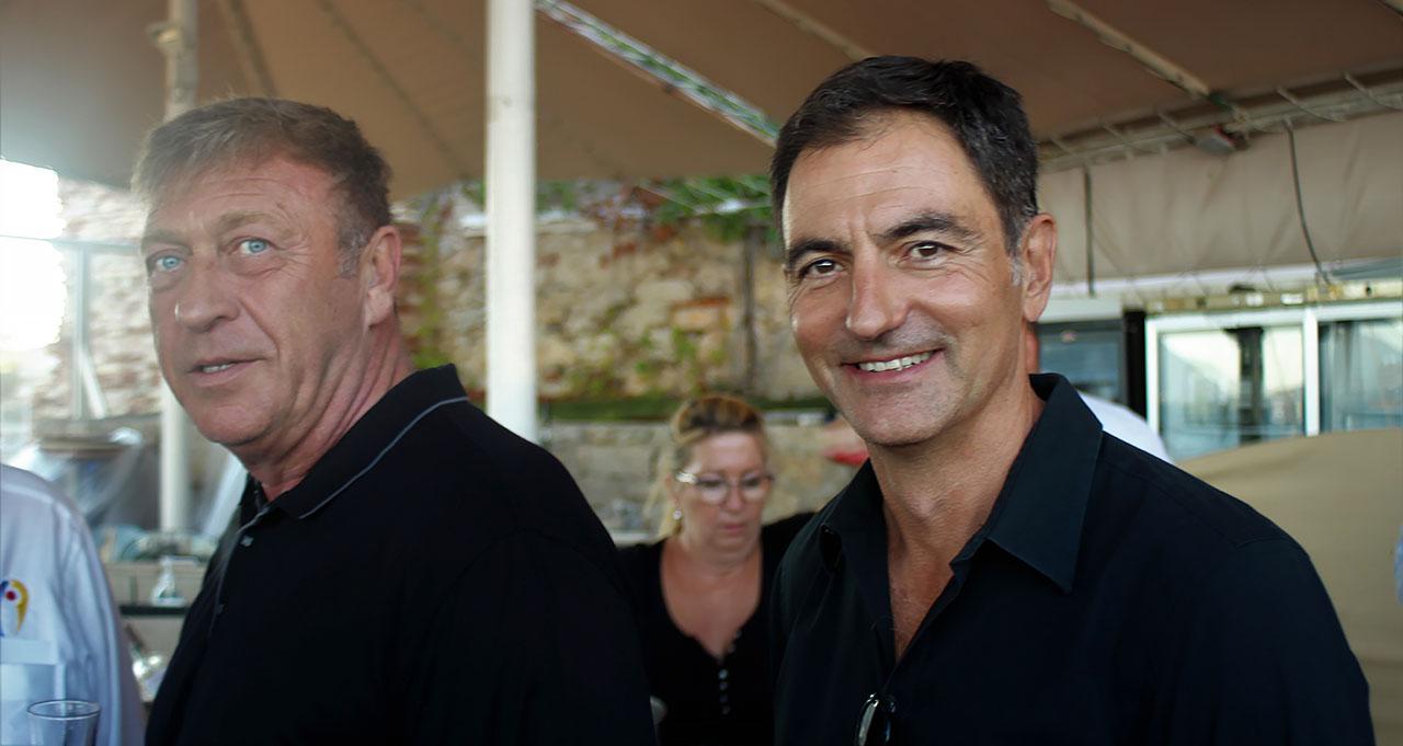 à droite : Olivier Rouard,-co-président du RCT Association