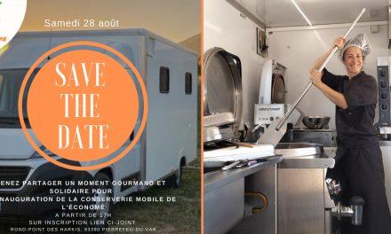 PIERREFEU-DU-VAR : INAUGURATION DE LA CONSERVERIE MOBILE DE L'ASSOCIATION «L'ÉCONOME»